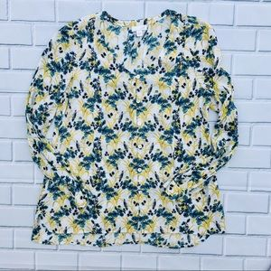 Floral Print Long Sleeve Blouse - J. Jill
